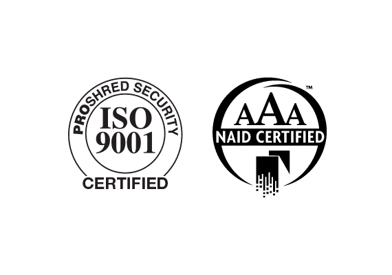 ISO 9001 and NAID AAA Logos with transparency